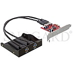 DeLock 61775 USB 3.0 Front Panel 2-Port inkl. PCI Express Card
