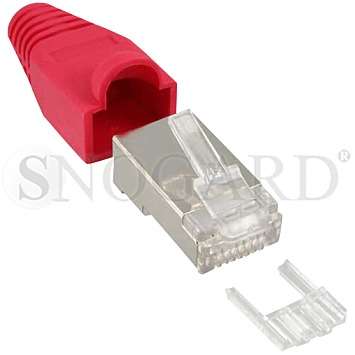 InLine 74510R Crimp RJ45 Stecker 10er Pack rot