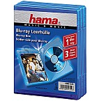 Hama 51349 Blu-ray Cases 3er Pack blau