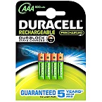 4 Stk. Duracell StayCharged Rechargeable Micro NiMH 1000mAh