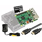 Raspberry Pi 3 B 1GB Starter Kit 8GB microSDHC 1.5m HDMI-Kabel transparent