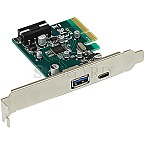 Joy-It USB 3.1 Controller PCIe 2.0 x4 2x USB 3.1
