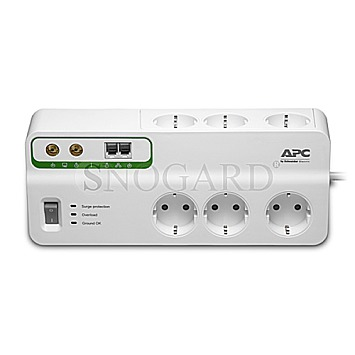 APC Surge Protector Home/Office 6-fach