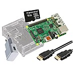 Raspberry Pi 3B+ 1GB Starter Kit 16GB microSDHC 1.5m HDMI-Kabel transparent