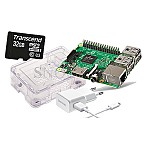Raspberry Pi 3B 1GB + Case Bundle 32GB microSDHC transparent
