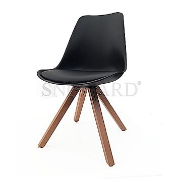 Eames Chair Gepolstert trends living polsterstuhl eames chair m10002 sch schwarz bei