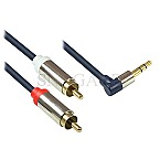Good Connections 3m Audio 3.5mm/2x RCA dunkelblau