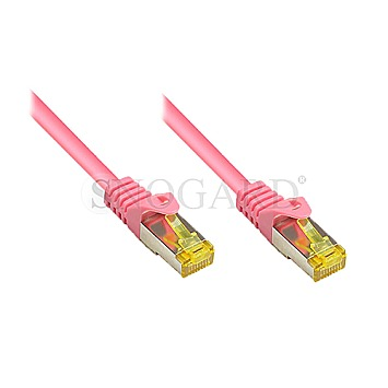 Good Connections RNS-RJ45 Patchkabel S/FTP (PiMF), m.CAT7 Rohkabel 40m magenta