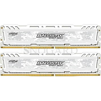 16GB Crucial Ballistix Sport LT DDR4-2400 Kit white