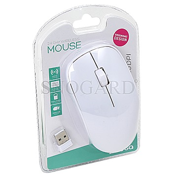 Omega OM-420 Optical 2.4GHz Wireless Mouse White