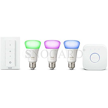 Philips Hue LED E27 3er Starter Set RGBW 10W White and Color Ambiance