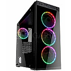 Kolink Horizon RGB Tempered Glass Black