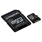 64GB Kingston Canvas Select R80 microSDXC Kit UHS-I U1 Class 10