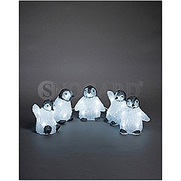 Konstsmide 6266-203 LED Acryl Babypinguine 5er-Set