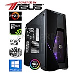 GamingLine AMD Ryzen R5-2600-GTX1660Ti OC 16GB 480GB SSD W10Home Powered by ASUS