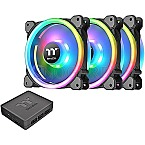Thermaltake Riing Trio 12 LED RGB Radiator TT Premium Edition 120mm 3er-Pack