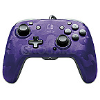 PDP Faceoff Deluxe + Audio Wired Controller Purple Camo for Switch